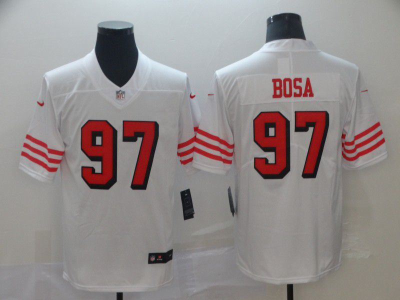 Men San Francisco 49ers 97 Bosa White Nike Vapor Untouchable Limited NFL Jerseys