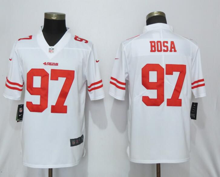 Men San Francisco 49ers 97 Bosa White Nike Vapor Untouchable Limited Player NFL Jerseys