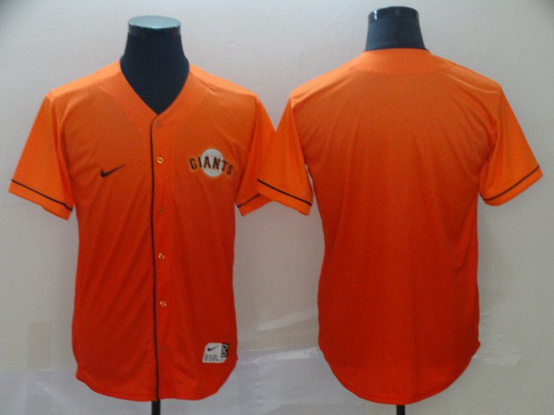 Men San Francisco Giants Blank Orange Nike Fade MLB Jersey