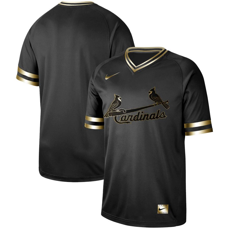Men St.Louis Cardinals Blank Nike Black Gold MLB Jerseys