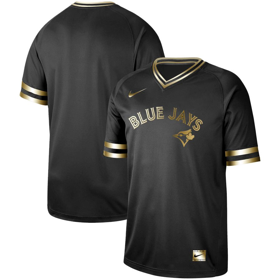 Men Toronto Blue Jays Blank Nike Black Gold MLB Jerseys