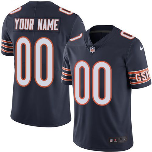 Nike Chicago Bears Navy Men Customized Vapor Untouchable Player Limited Jersey