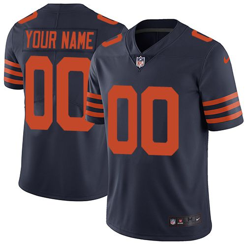 Nike Chicago Bears Navy Throwback Men Customized Vapor Untouchable Player Limited Jersey