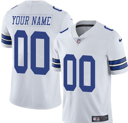 Nike Dallas Cowboys White Men Customized Vapor Untouchable Limited Jersey