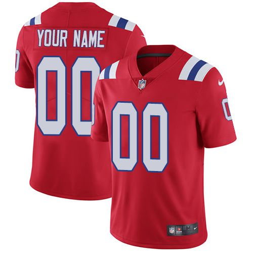 Nike New England Patriots Red Men Customized Vapor Untouchable Player Limited Jersey