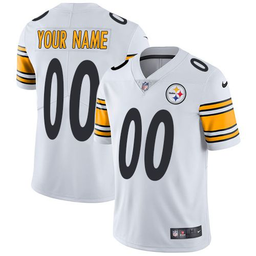 f9126b18a Nike Pittsburgh Steelers White Men Customized Vapor Untouchable Player  Limited Jersey