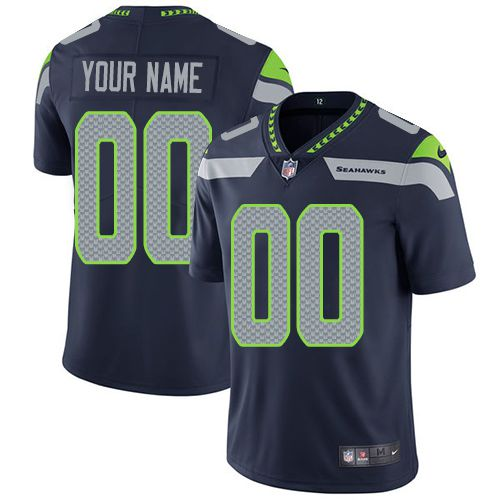 2535c8de948 2019 NFL Youth Nike Seattle Sehawks Home Navy Blue Customized Vapor  Untouchable Limited jersey