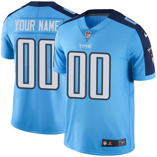Nike Tennessee Titans Light Blue Men Customized Vapor Untouchable Player Limited Jersey