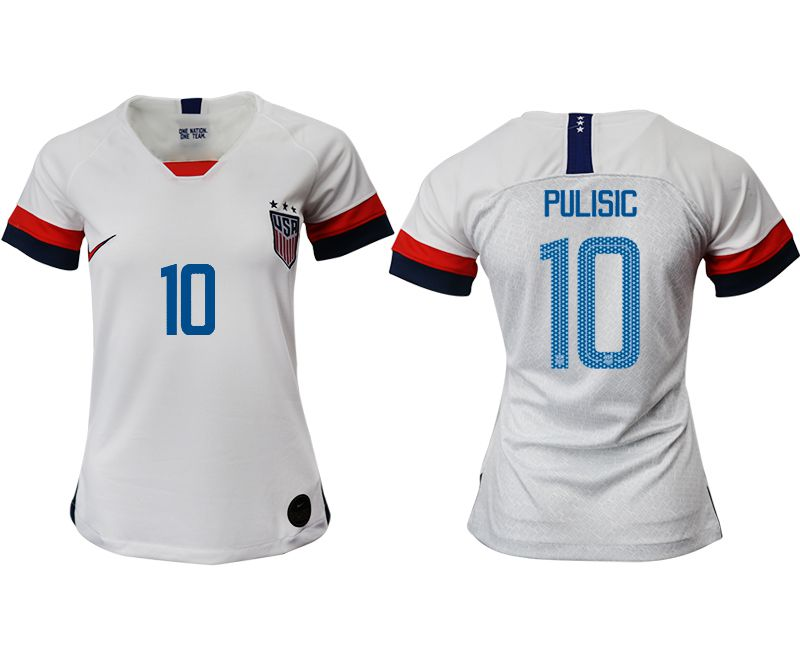 Women 2019-2020 Season National Team America home aaa 10 white Soccer Jerseys1