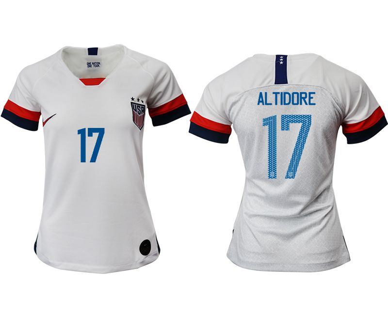 Women 2019-2020 Season National Team America home aaa 17 white Soccer Jerseys