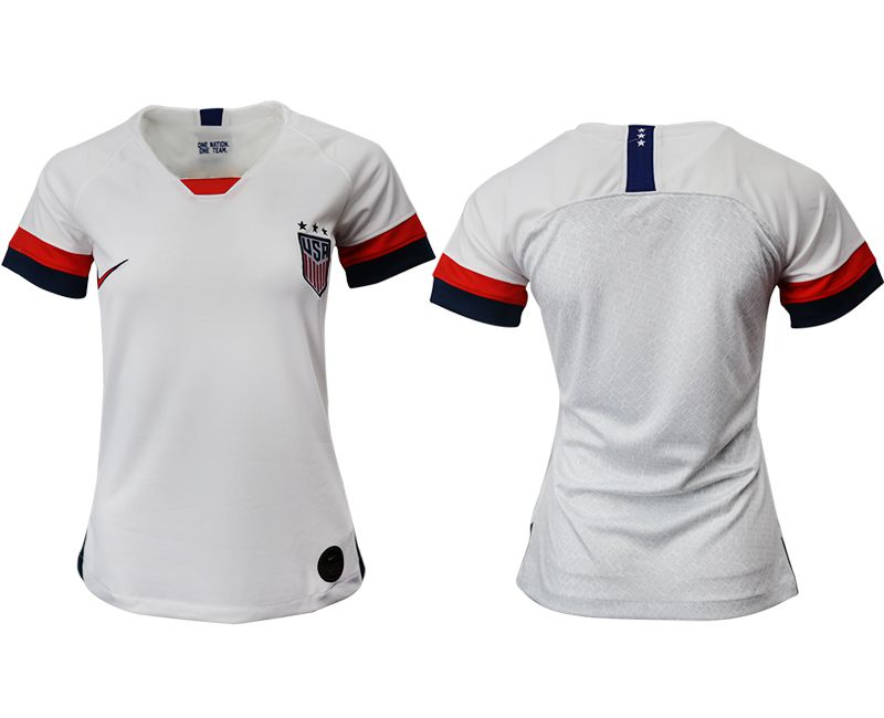 Women 2019-2020 Season National Team America home aaa white Soccer Jerseys
