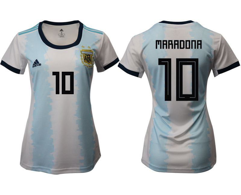 Women 2019-2020 Season National Team Argentina home aaa version 10 blue Soccer Jerseys