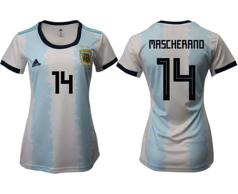 Women 2019-2020 Season National Team Argentina home aaa version 14 blue Soccer Jerseys