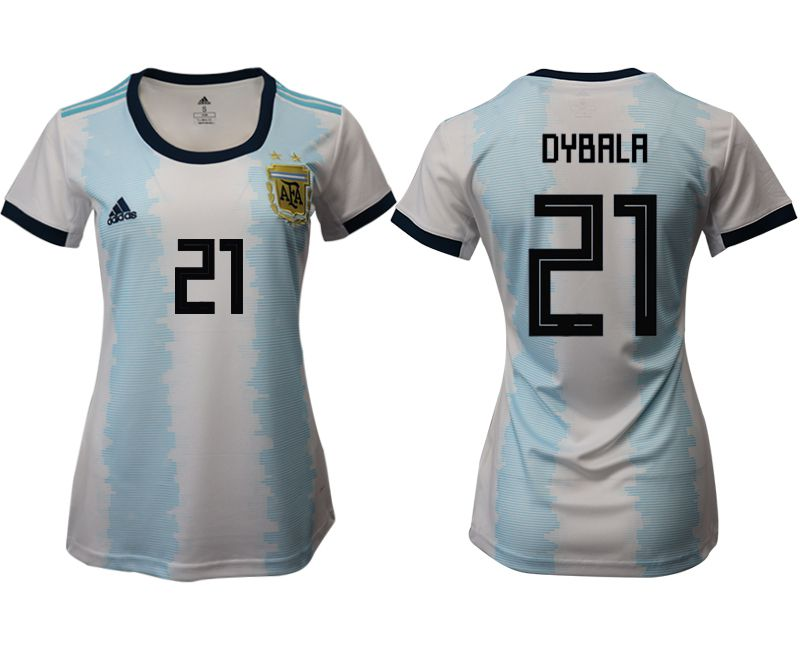 Women 2019-2020 Season National Team Argentina home aaa version 21 blue Soccer Jerseys