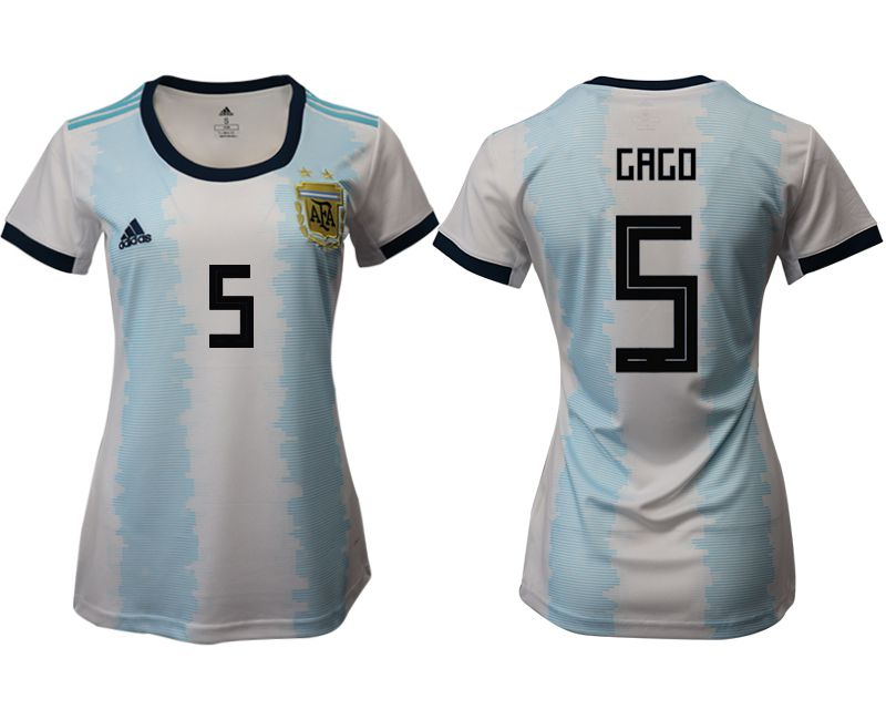 Women 2019-2020 Season National Team Argentina home aaa version 5 blue Soccer Jerseys