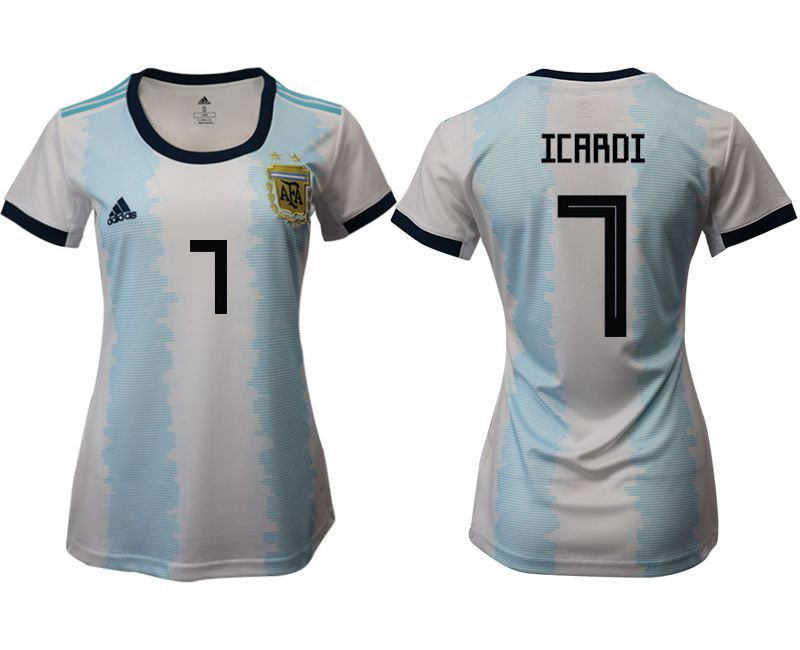 Women 2019-2020 Season National Team Argentina home aaa version 7 blue Soccer Jerseys