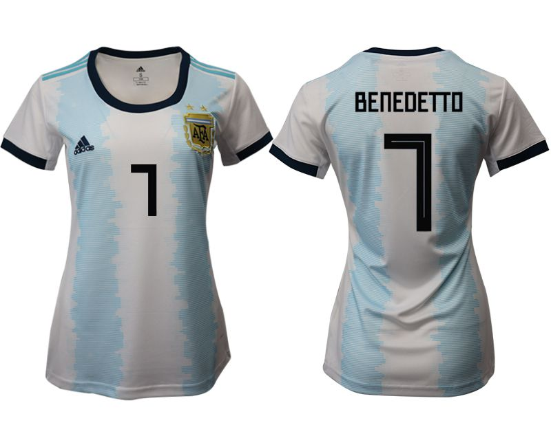 Women 2019-2020 Season National Team Argentina home aaa version 7 blue Soccer Jerseys1