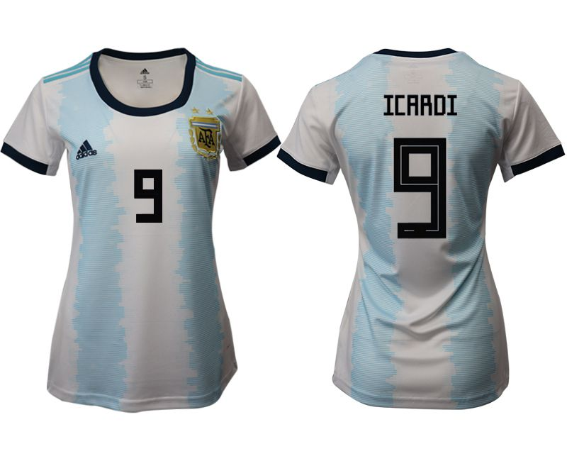 Women 2019-2020 Season National Team Argentina home aaa version 9 blue Soccer Jerseys