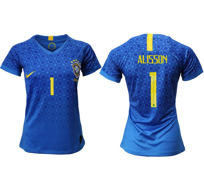 Women 2019-2020 Season National Team Brazil away aaa 1 blue Soccer Jerseys