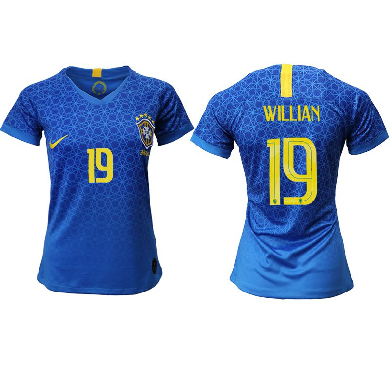 Women 2019-2020 Season National Team Brazil away aaa 19 blue Soccer Jerseys