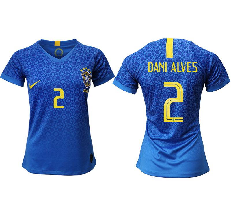 Women 2019-2020 Season National Team Brazil away aaa 2 blue Soccer Jerseys