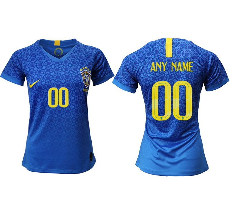 Women 2019-2020 Season National Team Brazil away aaa customized blue Soccer Jerseys