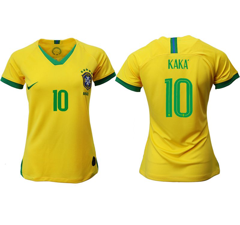 Women 2019-2020 Season National Team Brazil home aaa 10 yellow Soccer Jerseys1