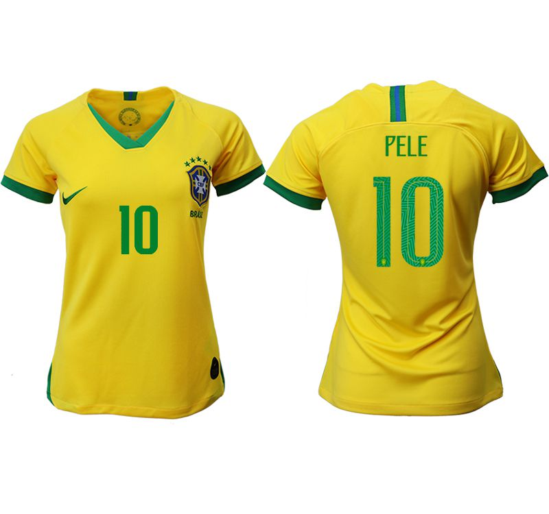 Women 2019-2020 Season National Team Brazil home aaa 10 yellow Soccer Jerseys3