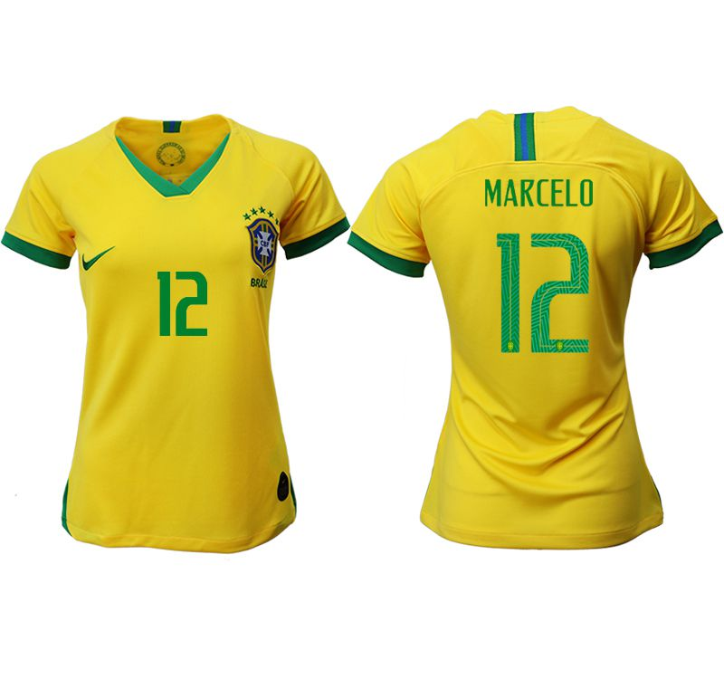 Women 2019-2020 Season National Team Brazil home aaa 12 yellow Soccer Jerseys