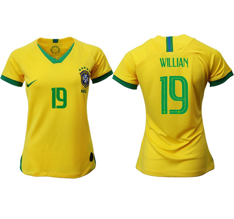 Women 2019-2020 Season National Team Brazil home aaa 19 yellow Soccer Jerseys