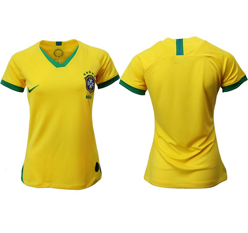 Women 2019-2020 Season National Team Brazil home aaa yellow Soccer Jerseys