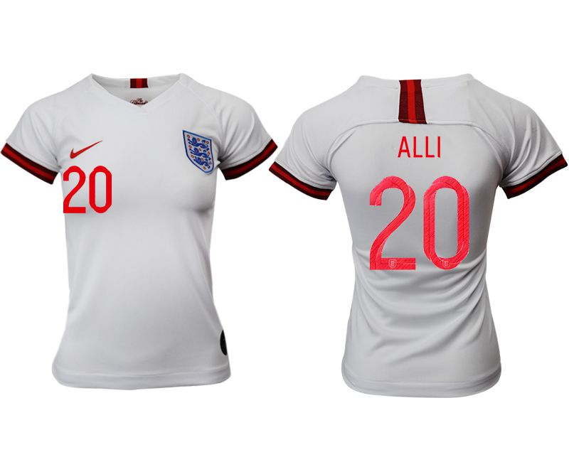 Women 2019-2020 Season National Team England home aaa version 20 white Soccer Jerseys