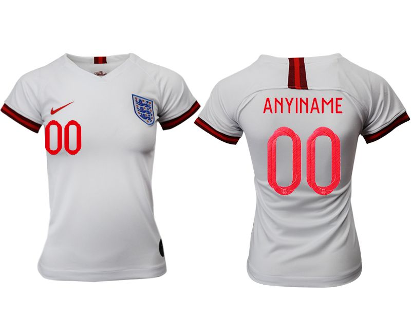 Women 2019-2020 Season National Team England home aaa version customized white Soccer Jerseys
