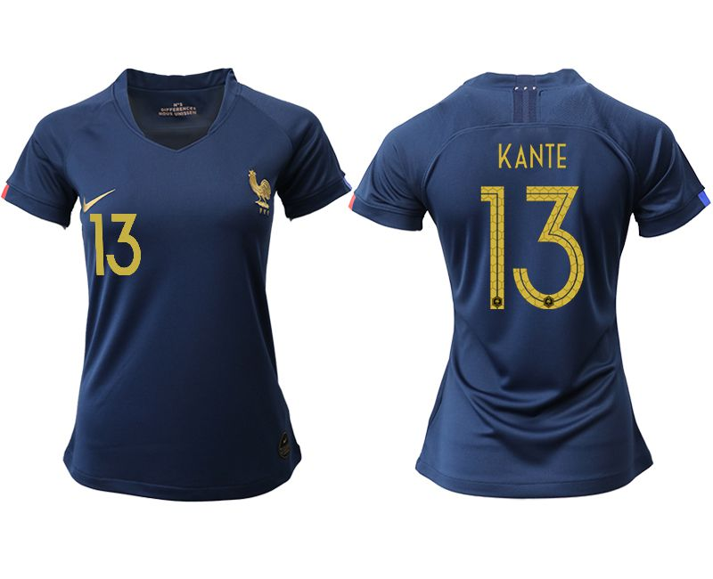 Women 2019-2020 Season National Team French home aaa version 13 blue Soccer Jerseys