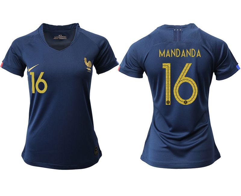 Women 2019-2020 Season National Team French home aaa version 16 blue Soccer Jerseys