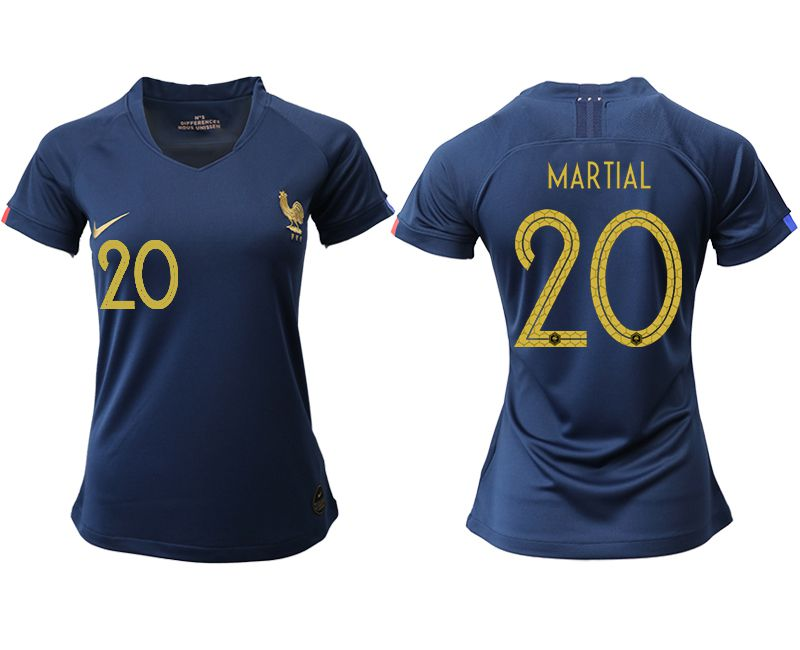 Women 2019-2020 Season National Team French home aaa version 20 blue Soccer Jerseys
