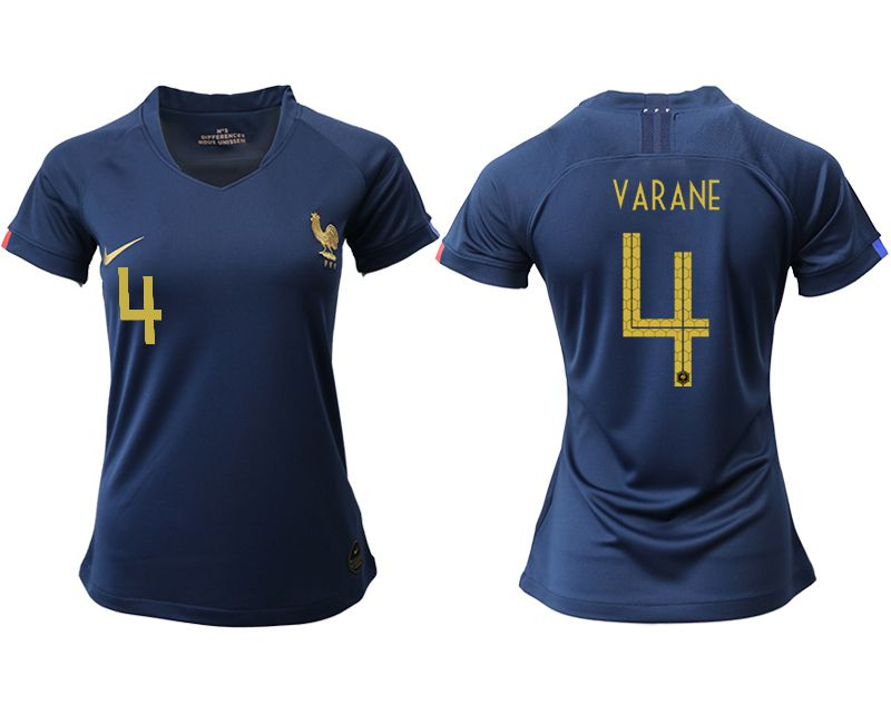 Women 2019-2020 Season National Team French home aaa version 4 blue Soccer Jerseys