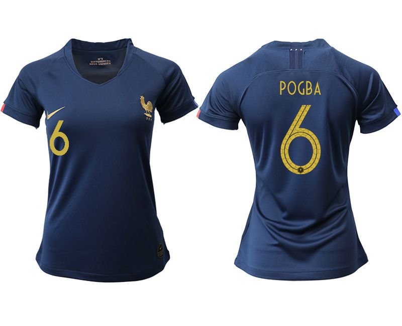 Women 2019-2020 Season National Team French home aaa version 6 blue Soccer Jerseys