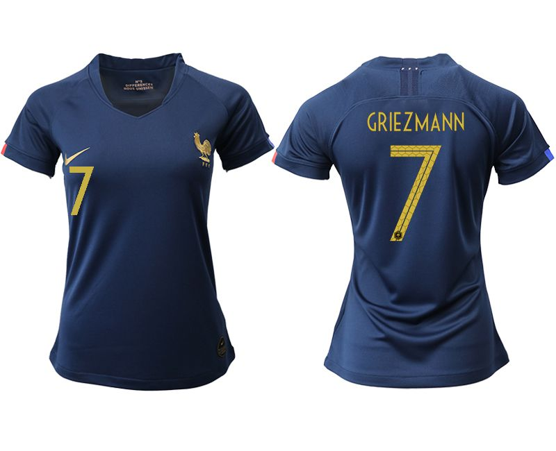 Women 2019-2020 Season National Team French home aaa version 7 blue Soccer Jerseys