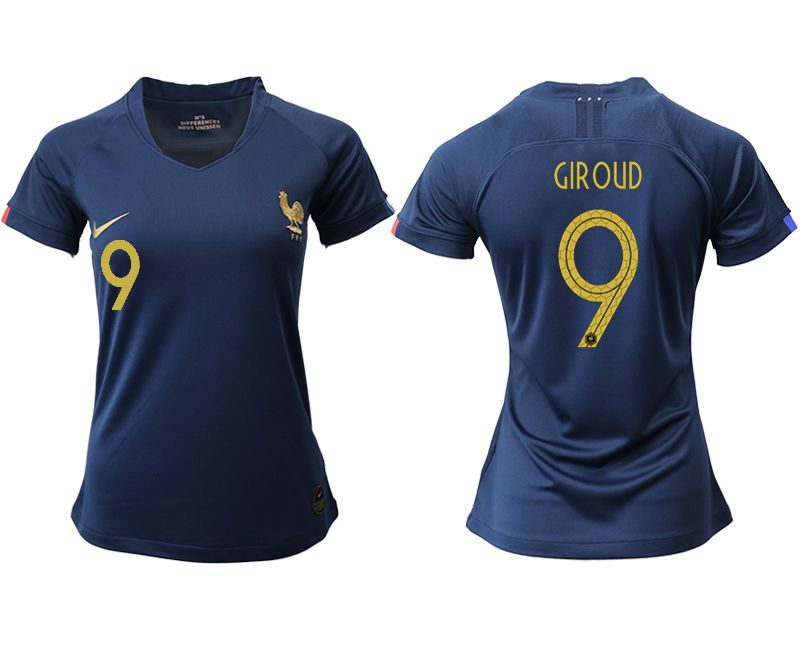 Women 2019-2020 Season National Team French home aaa version 9 blue Soccer Jerseys