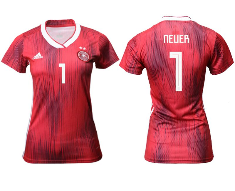 Women 2019-2020 Season National Team Germany away aaa version 1 red Soccer Jerseys