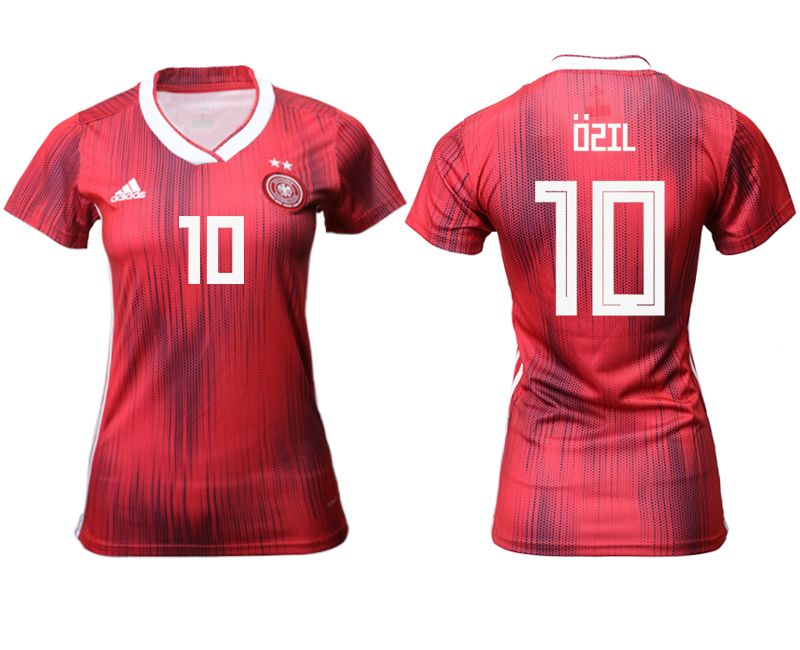Women 2019-2020 Season National Team Germany away aaa version 10 red Soccer Jerseys