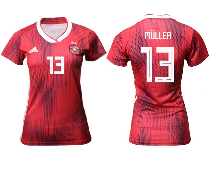 Women 2019-2020 Season National Team Germany away aaa version 13 red Soccer Jerseys