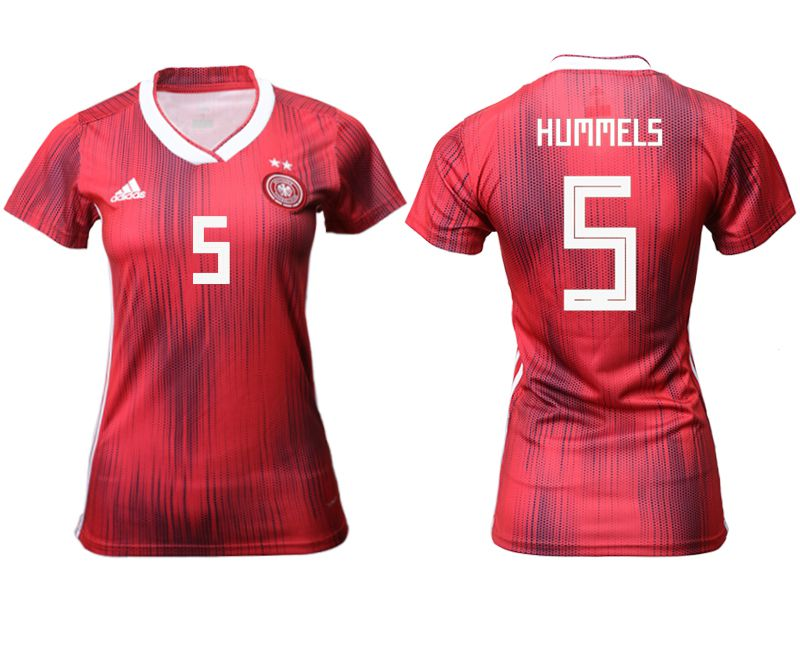 Women 2019-2020 Season National Team Germany away aaa version 5 red Soccer Jerseys