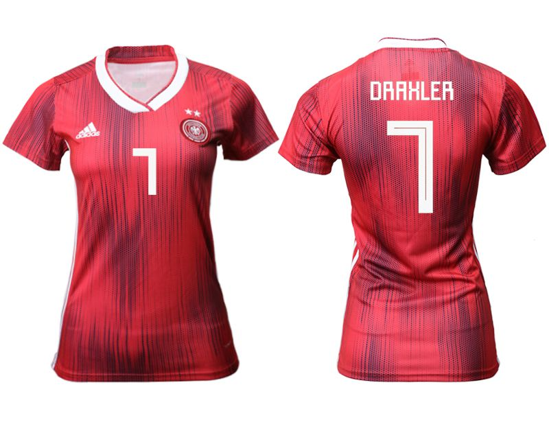 Women 2019-2020 Season National Team Germany away aaa version 7 red Soccer Jerseys