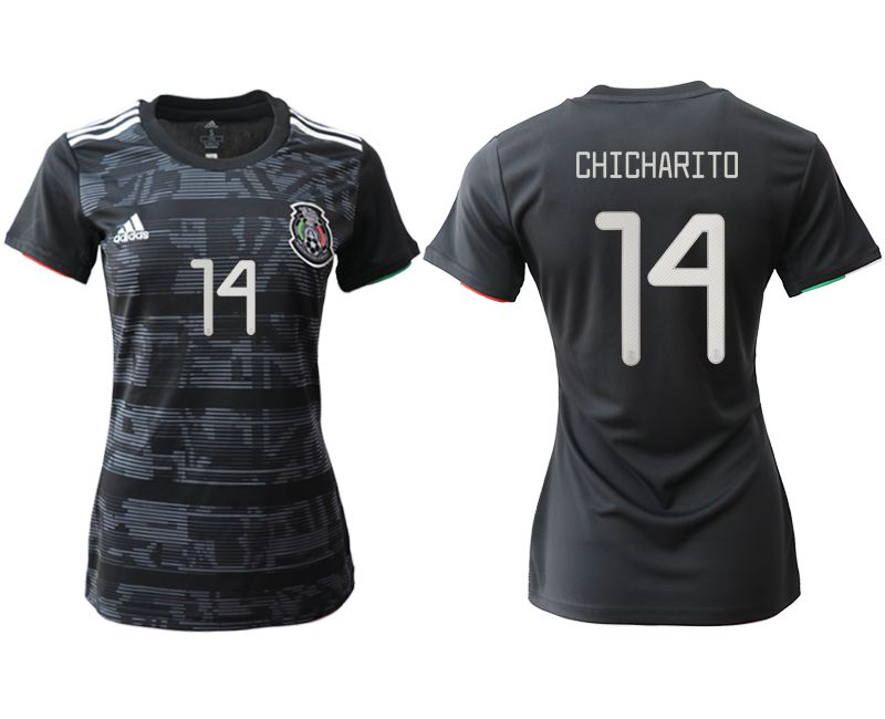 Women 2019-2020 Season National Team Mexico home aaa version 14 black Soccer Jerseys