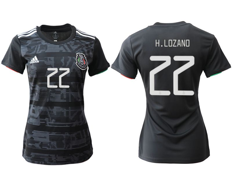 Women 2019-2020 Season National Team Mexico home aaa version 22 black Soccer Jerseys