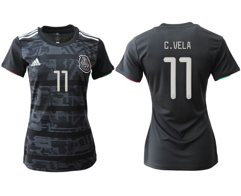 Women 2019-2020 Season National Team Mexico home aaa version 11 black Soccer Jerseys