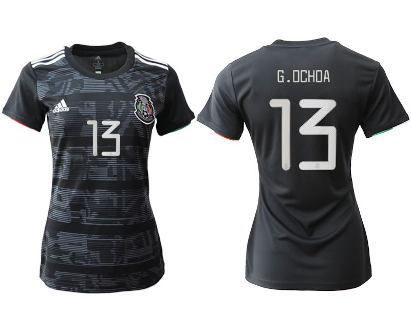 Women 2019-2020 Season National Team Mexico home aaa version 13 black Soccer Jerseys