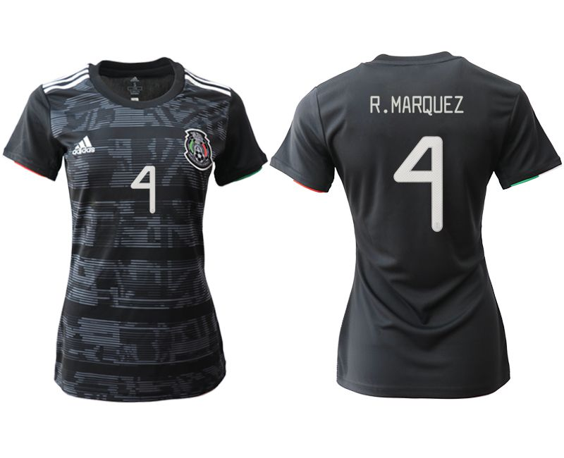 Women 2019-2020 Season National Team Mexico home aaa version 4 black Soccer Jerseys